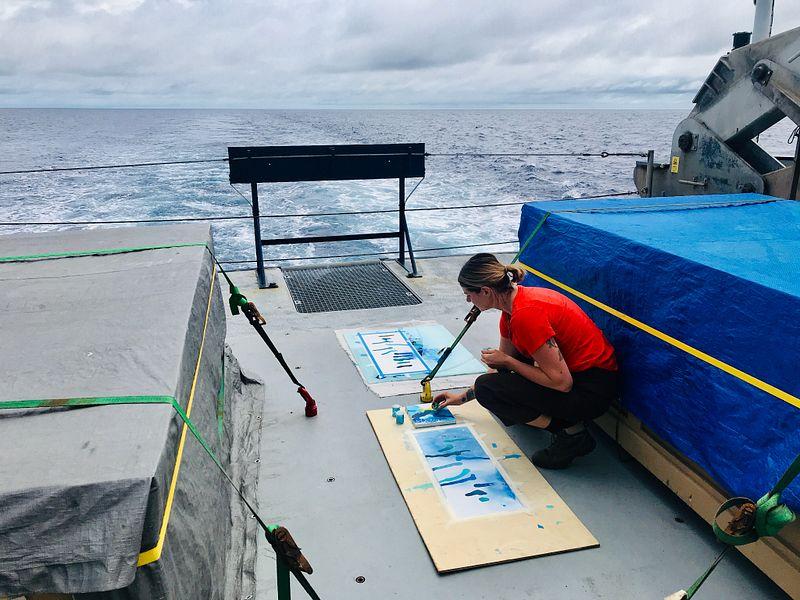 Bailey Ferguson at sea