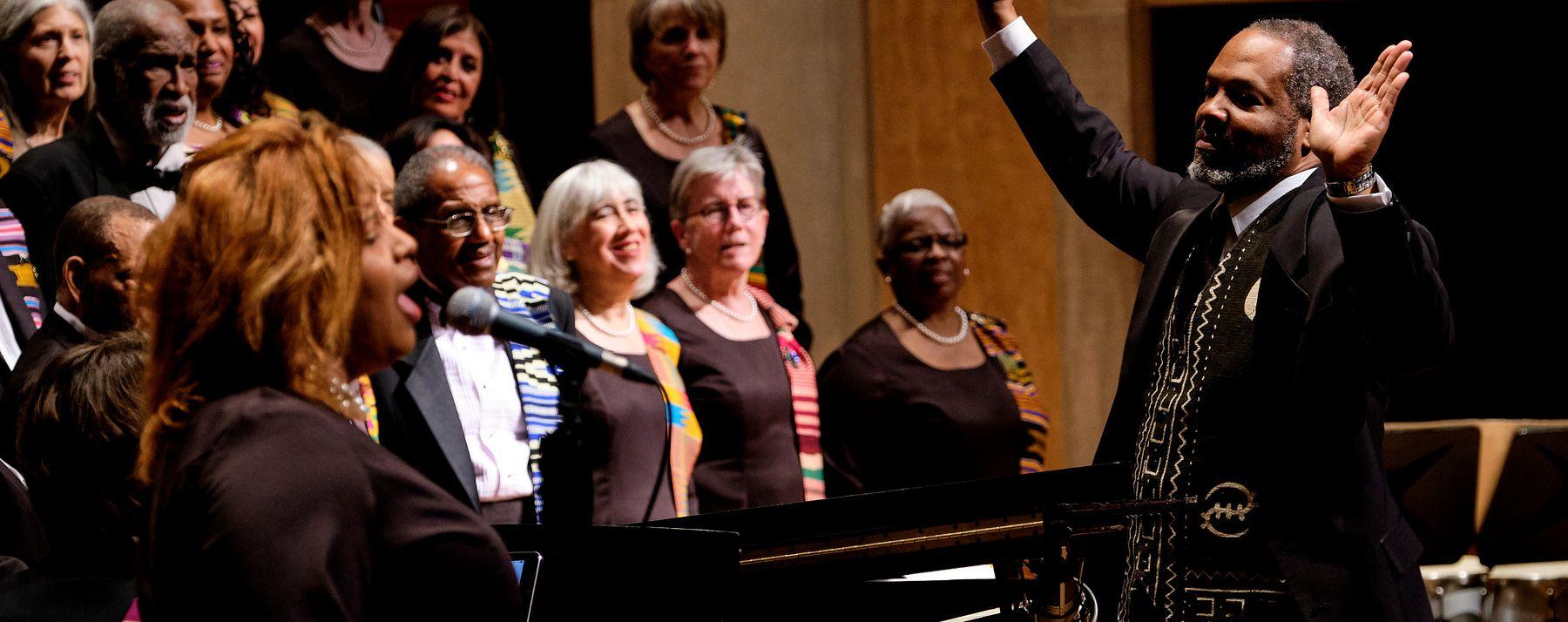 Spirituals Project Choir performs.
