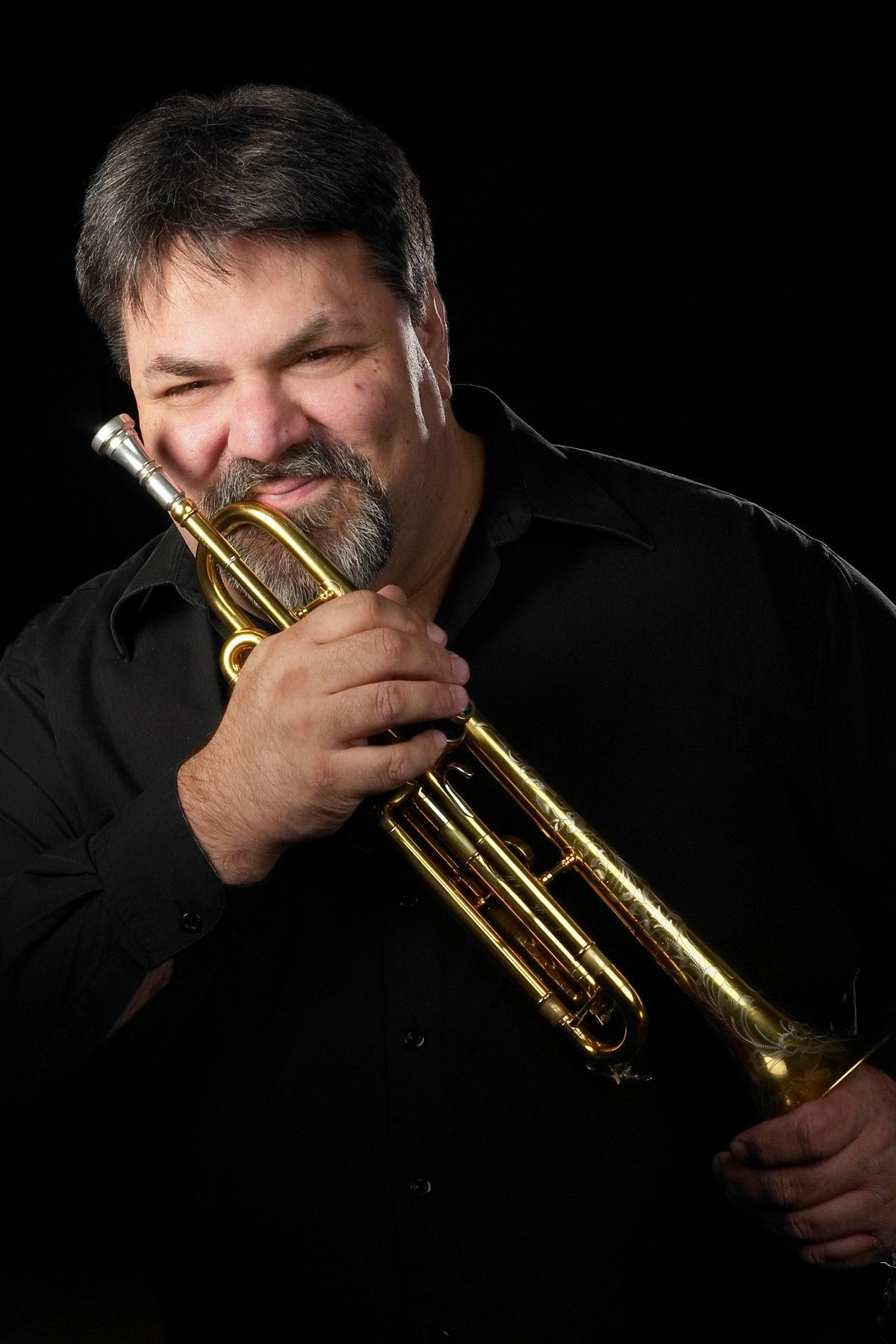 Alan Hood with trumpet