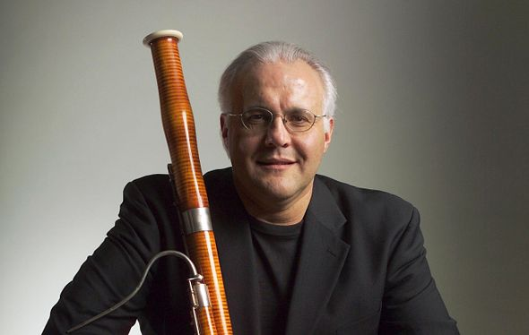 Frank Morelli with bassoon