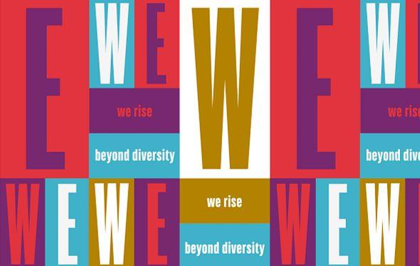 We Rise Diversity Summit graphic