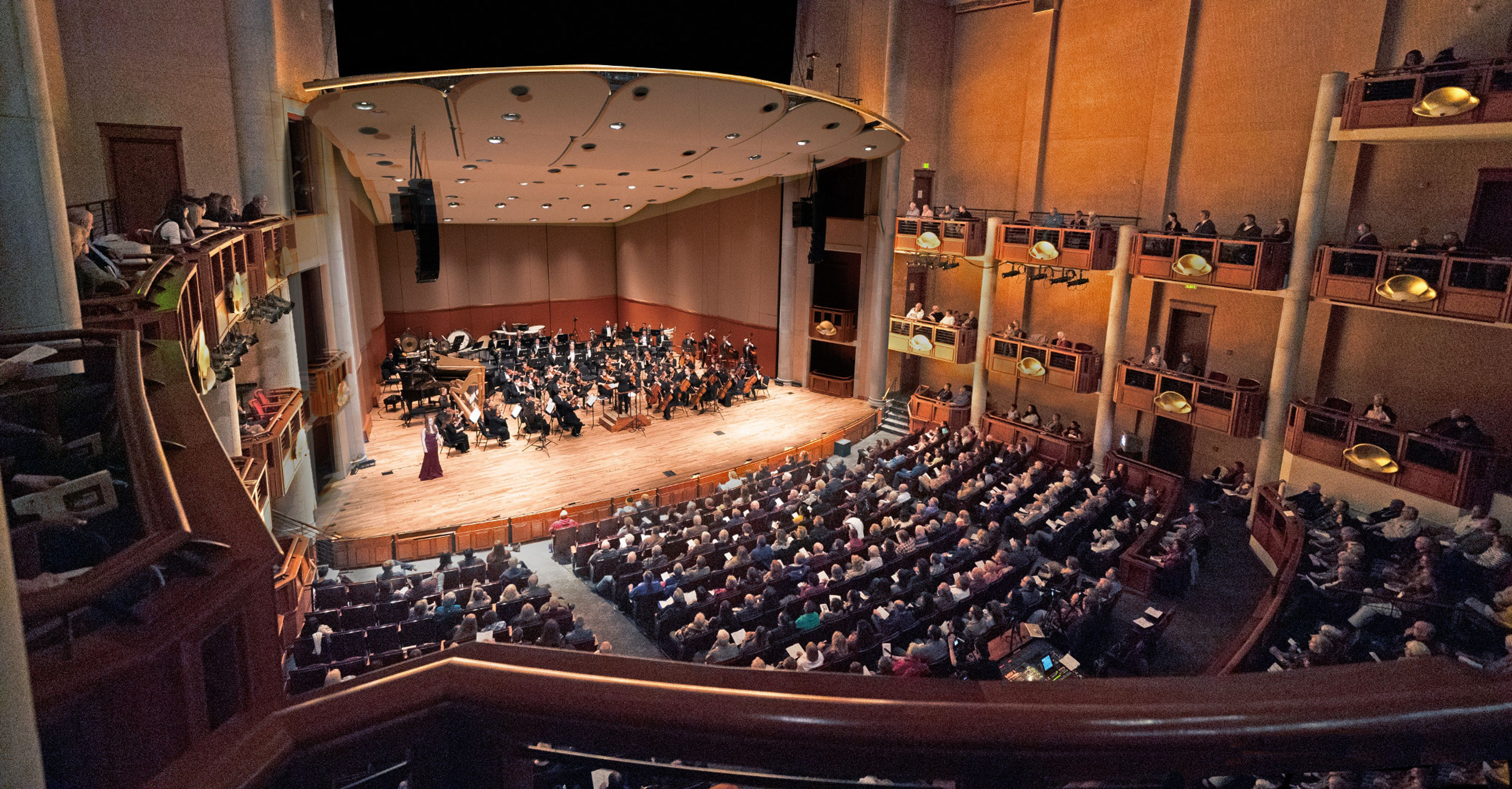 Lamont symphony orchestra performs at the Gates Concert Hall.