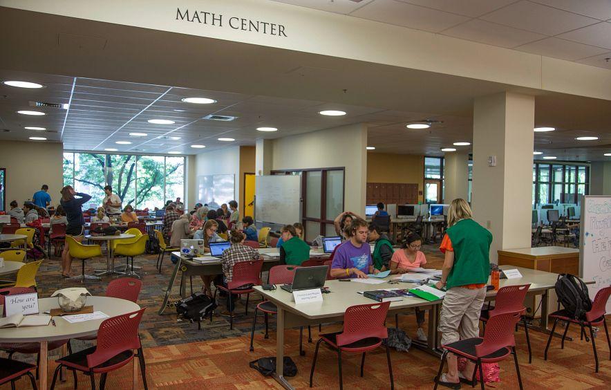 photo showing math center