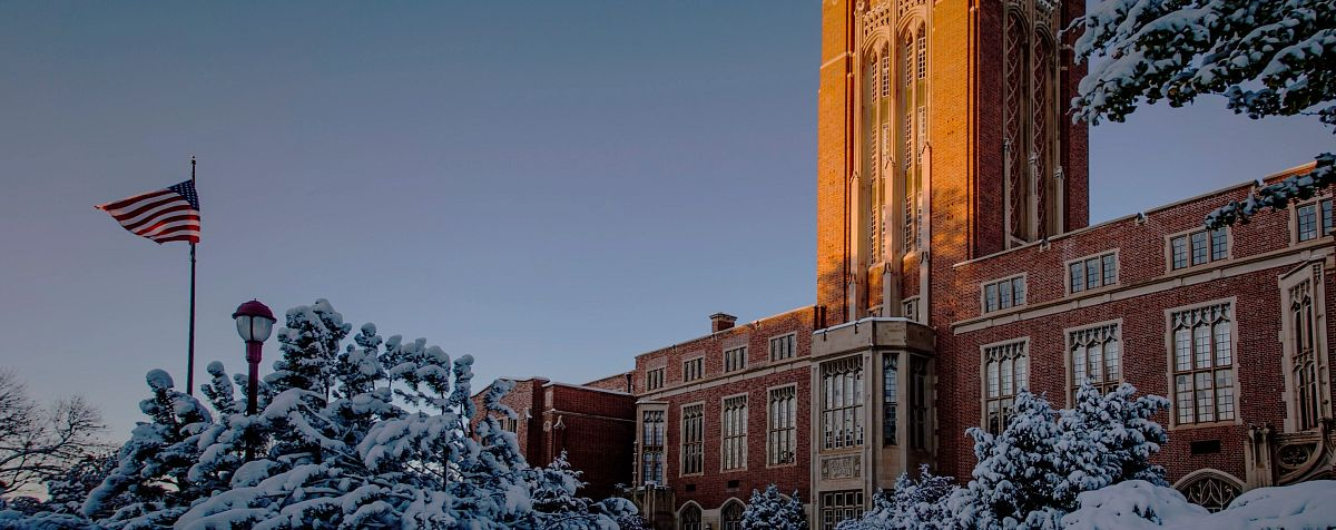 Mary Reed Building in Winter