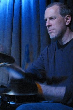 Mike Marlier playing the drums
