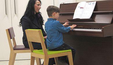 Gergana Argirova at piano with student