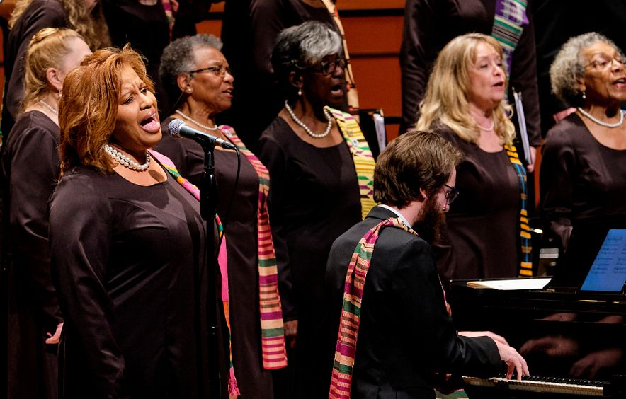 The spirituals projects choir performs.