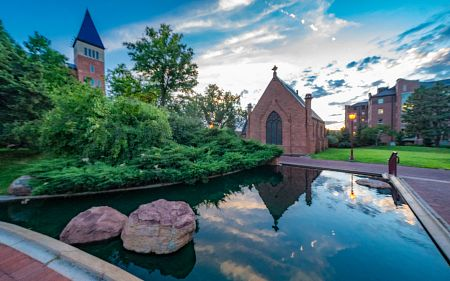 View of chapel on DU campus
