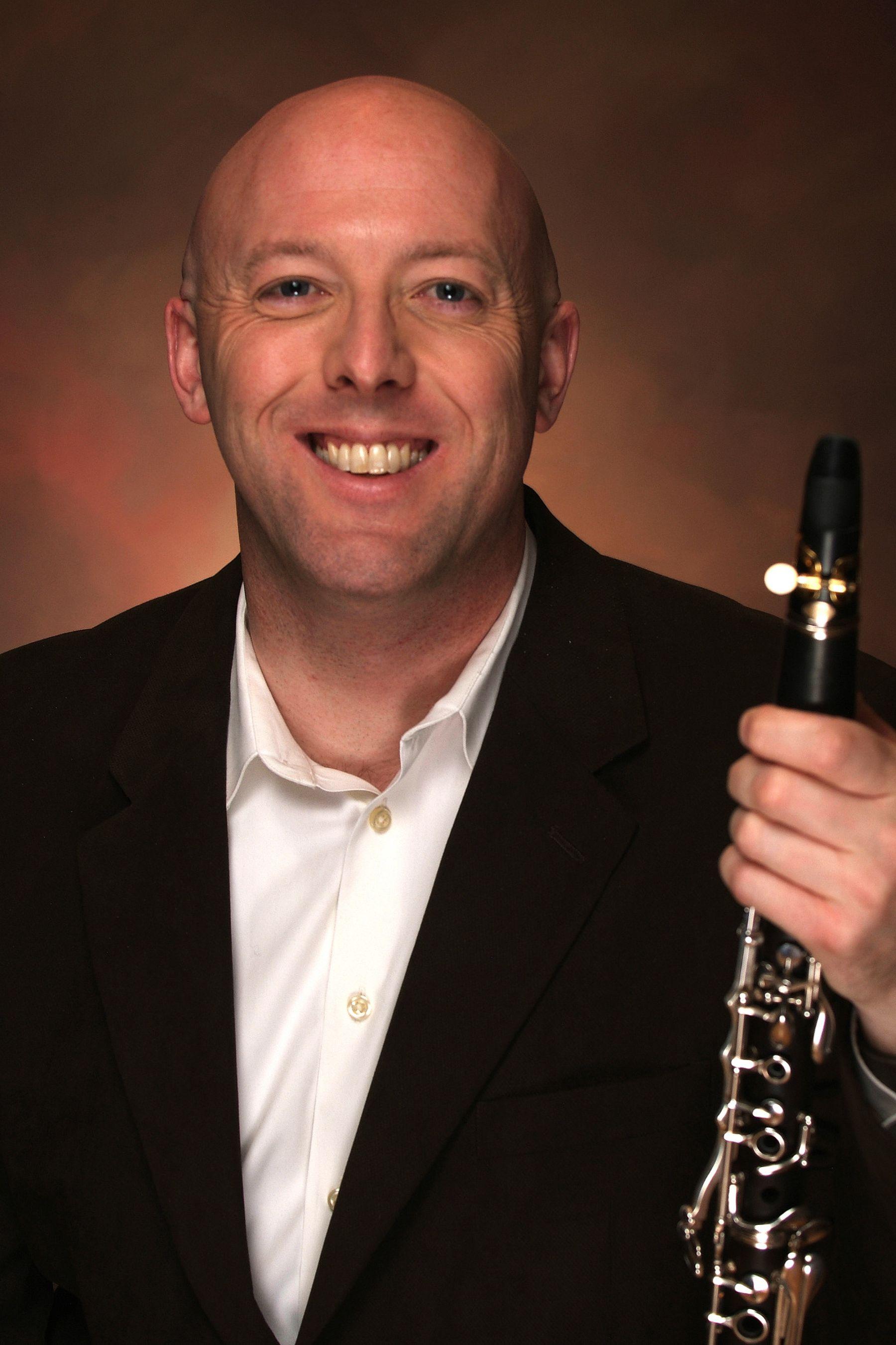 Jeremy Reynolds with clarinet