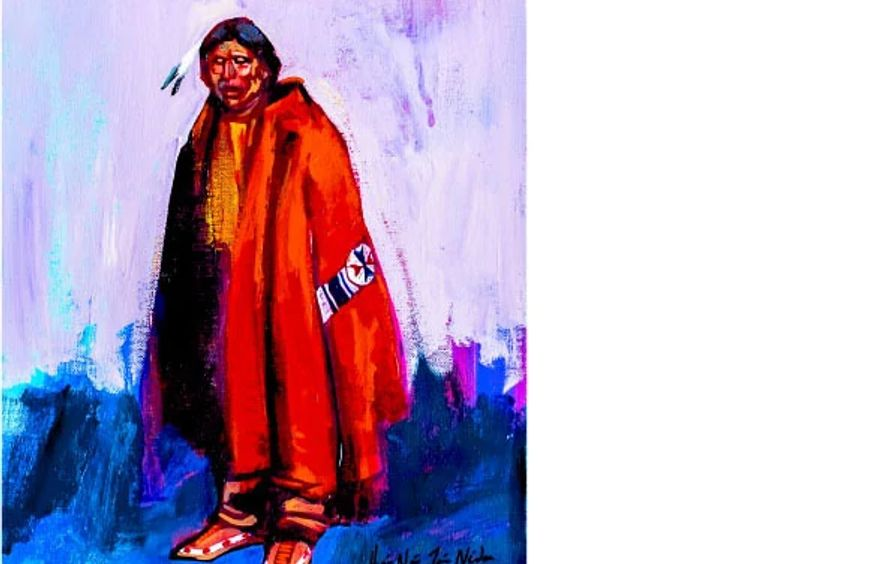 Arapaho Indian with Red Robe