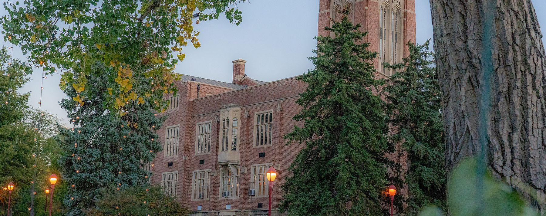 mary reed hall in evening