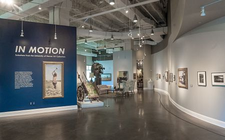 In Motion exhibit, curated by SAAH students.