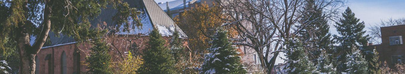 Korbel School in snow