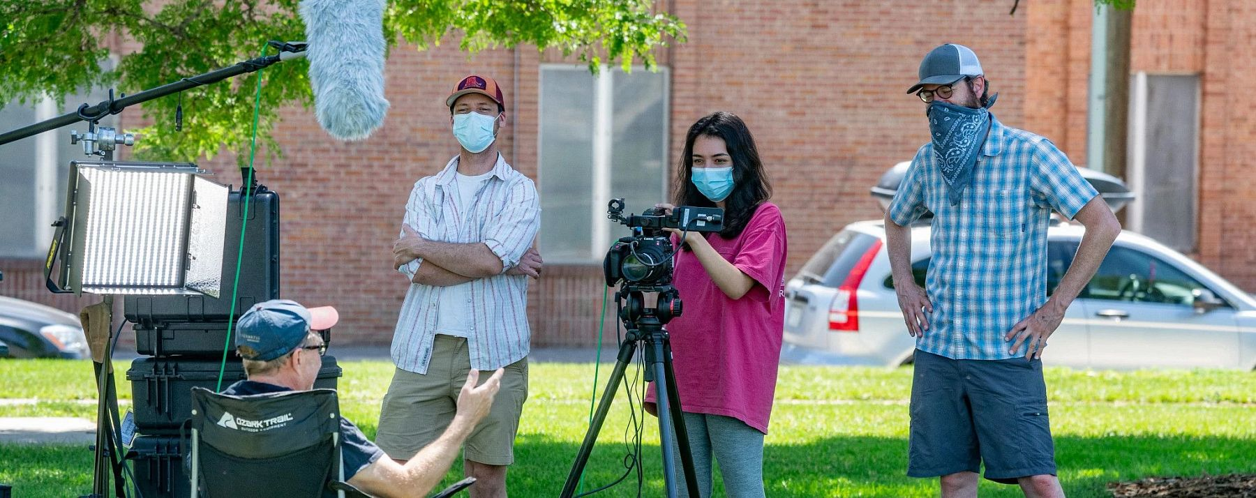 MFJS students filming during their course as they created an environmental documentary.