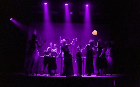 """Students perform """"The Secret Paris Project""""."""