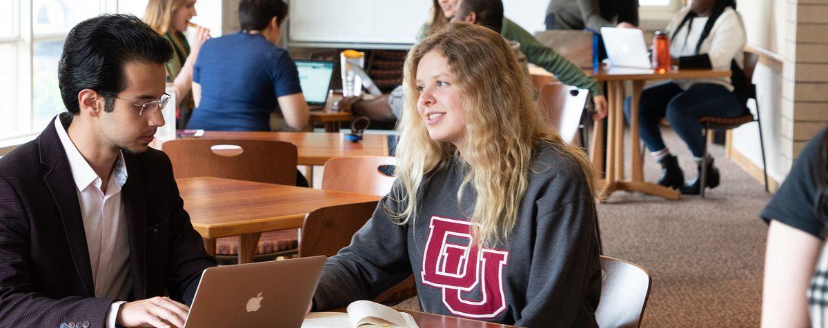 korbel students studying together