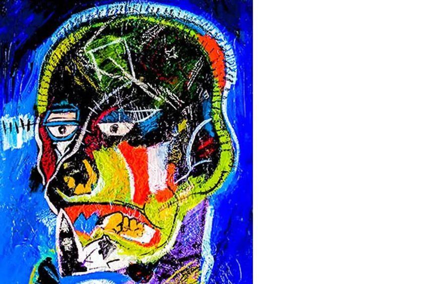 CheyenneWarrior (ode to Jean-Michel Basquiat)