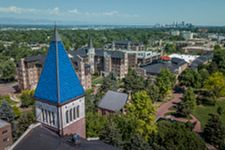 View of DU campus from roof of Korbel