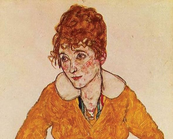 Portrait of the Artist's Wife, Schiele, 1917. Image credit: The Art Newspaper.