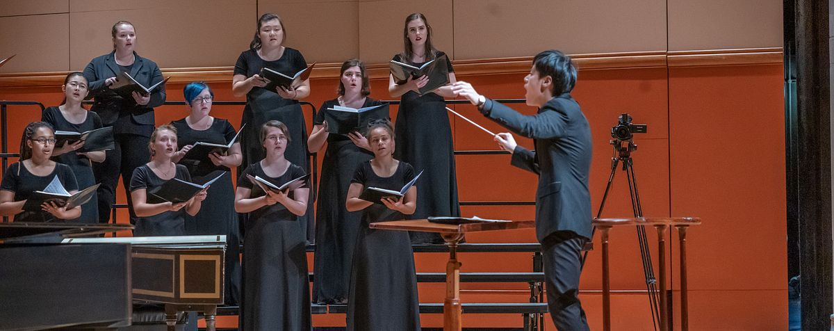 conductor and students