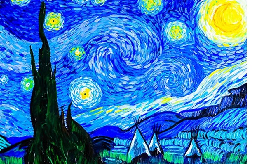 Starry Night on the Plains (ode to Vincent van Gogh)