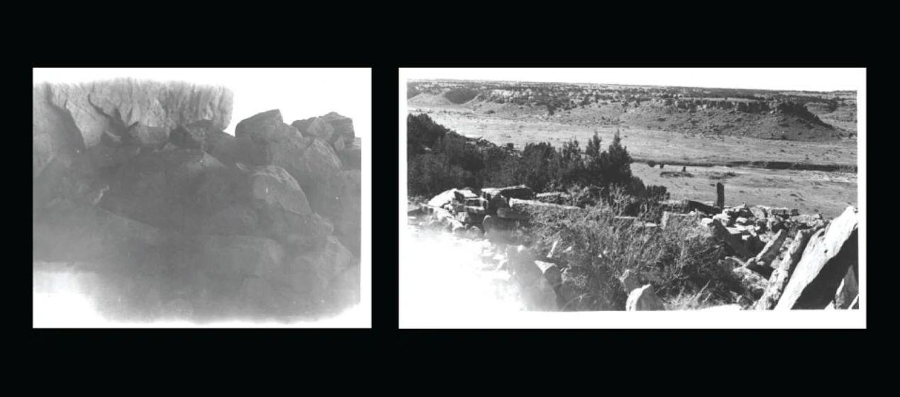 black and white exhibit photos