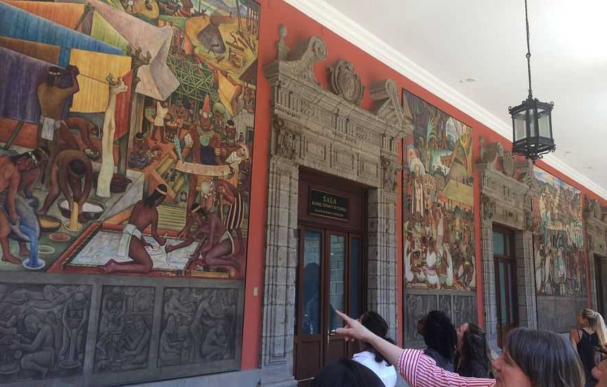 Students study abroad in Mexico.