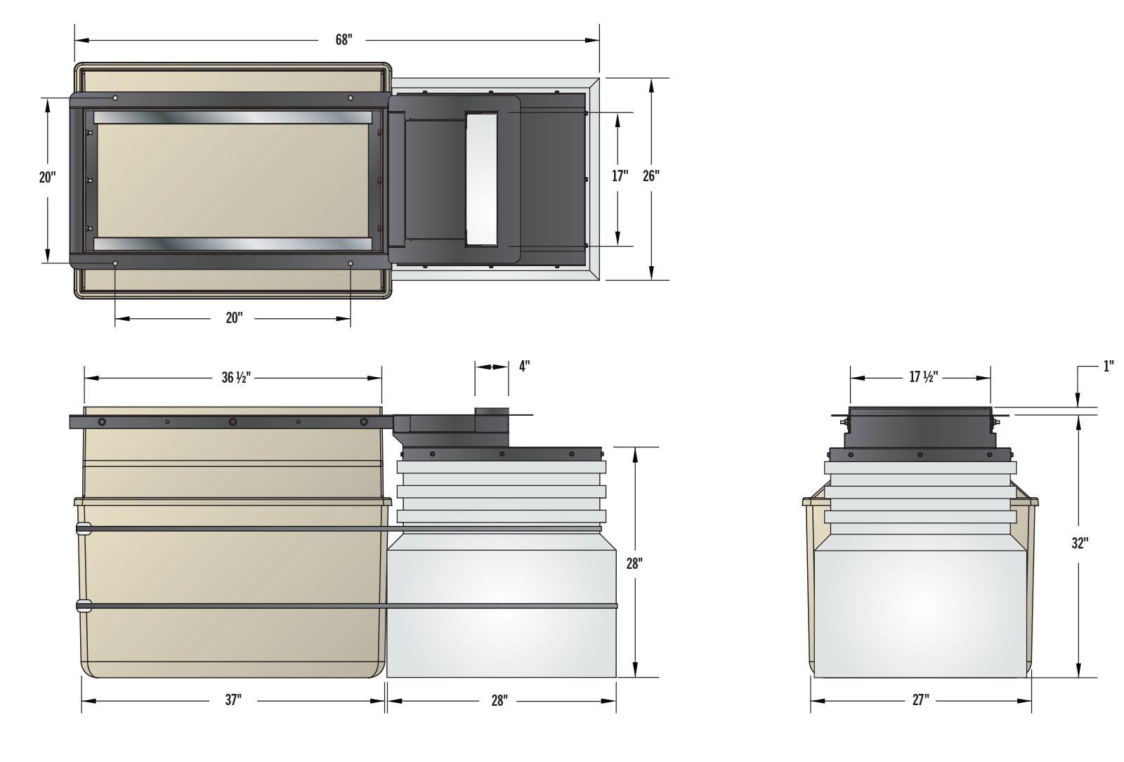Low Profile Dispenser Sump w DEF - Dims.psd