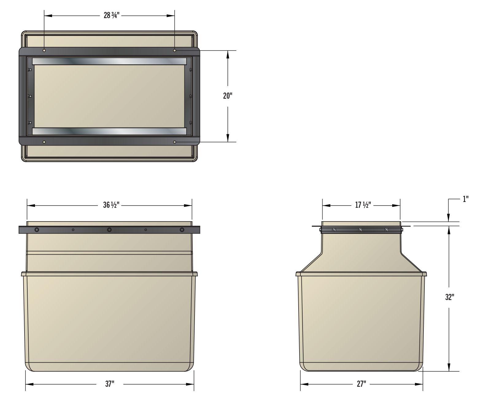 Low Profile Dispenser Sump - Dims.psd