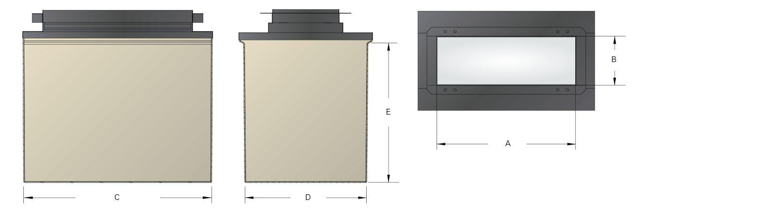 Large Mouth Fiberglass 4800 Dispenser Sumps - Dims.psd