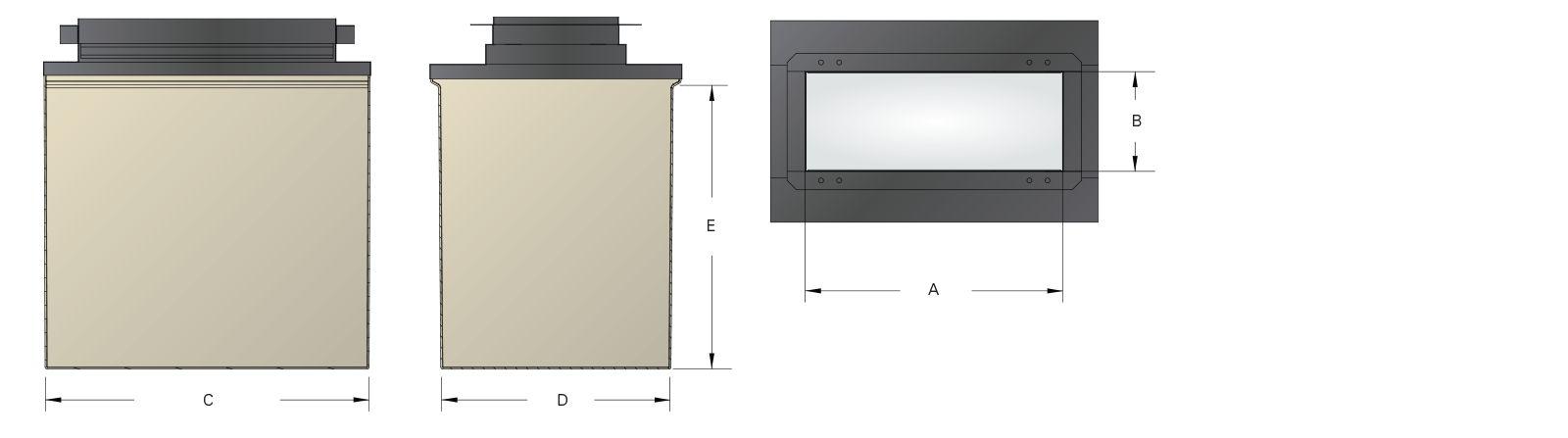 Large Mouth Fiberglass 3600 Dispenser Sumps - Dims.psd
