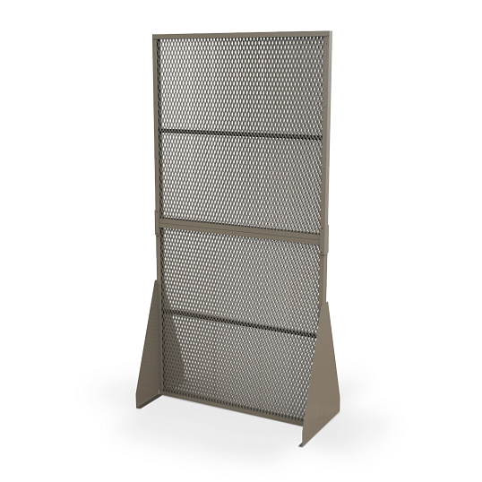 Double-Sided Freestanding Art Storage Screen