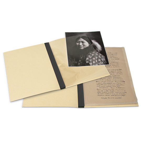 Gaylord Archival® 20 pt. Viewing Folders with 3 mil Archival Polyester L-Sleeves (5-Pack)