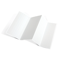 "Blank Laser/Inkjet 1/2H x 8""L Inserts for Magnetic Label Holders (1300-Pack)"