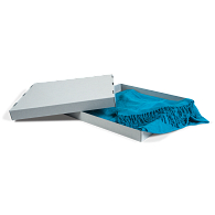 Gaylord Archival® Blue E-flute Scarf Box