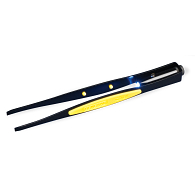 "General Tools 6 1/4"" Illuminated Tweezers with Serrated Blunt Tip"