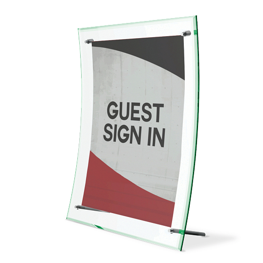 Acrylic Tabletop Curved Sign Holder