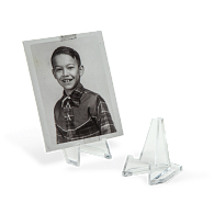 Jule-Art Acrylic Miniature Triangular Display Easels (12-Pack)