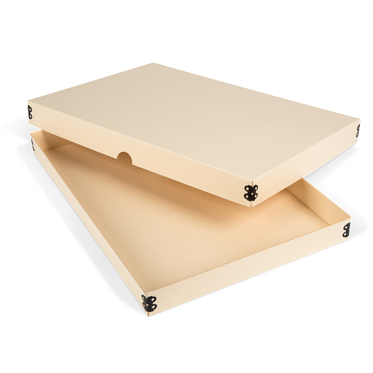 Gaylord Archival® Light Tan E-flute Board Lid Master Box for Modular Box System