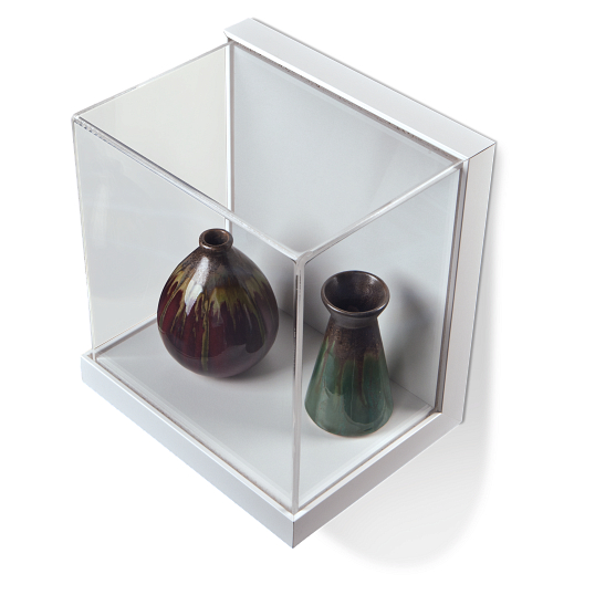 Gaylord Archival® Little Gem White Wall-Mount Exhibit Case