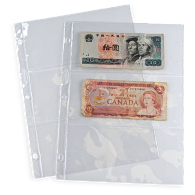 Archival Polyester 3-Pocket Currency Page