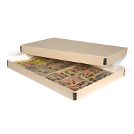 Gaylord Archival® Tan Barrier Board Deep Lid Newspaper Box