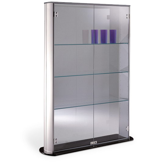 Peter Pepper Products PepperMint® Elliptical Profile Full-View Exhibit Case with Aluminum Top
