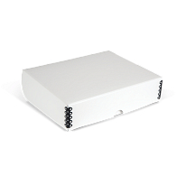 Gaylord Archival® White Barrier Board Clamshell Box
