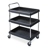 Deep Ledge 3-Shelf Utility Cart