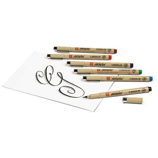 Sakura® Pigma® Brush Pens (6-Pack)