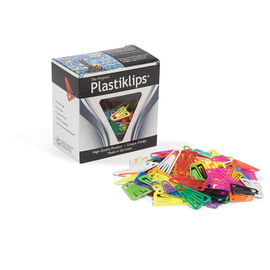 Plastiklips® Mixed Plastic Paper Clips (315-Pack)
