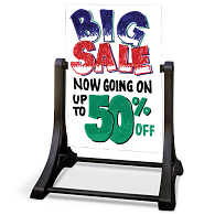 Swinger Outdoor Double-Sided Markerboard Sidewalk Sign