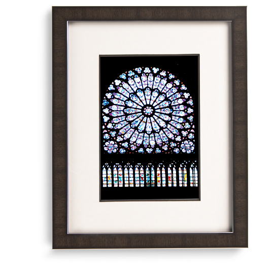 Gaylord Archival® Mahogany Registry Collection Wood Frame Kit with Silver Accents