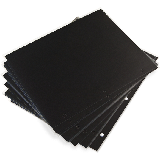 "12 x 12"" 3-Hole Punched Mounting Pages (25-Pack)"